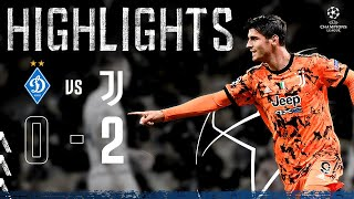 Dynamo Kyiv 0-2 Juventus | Morata Heads Home Double on UCL Opener! | Champions League Highlights