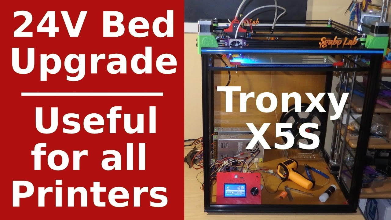 24V Bed Upgrade - How to - For All 3d Printers - 20 to 50°C in 2 40 min -  Sub EN