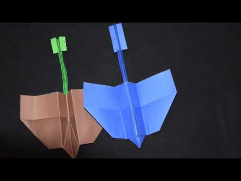 How To Make The Best Paper Airplane For Distance - World Record Paper  Airplane That Flies Far