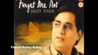 TERA CHEHRA  HAI AAINA Jagjit Singh Album FORGET ME NOT