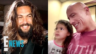 Jason Momoa Responds To The Rock's Daughter's B-Day Request | E! News