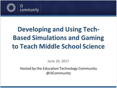 i3 Public Webinar: Learning Science Through Play