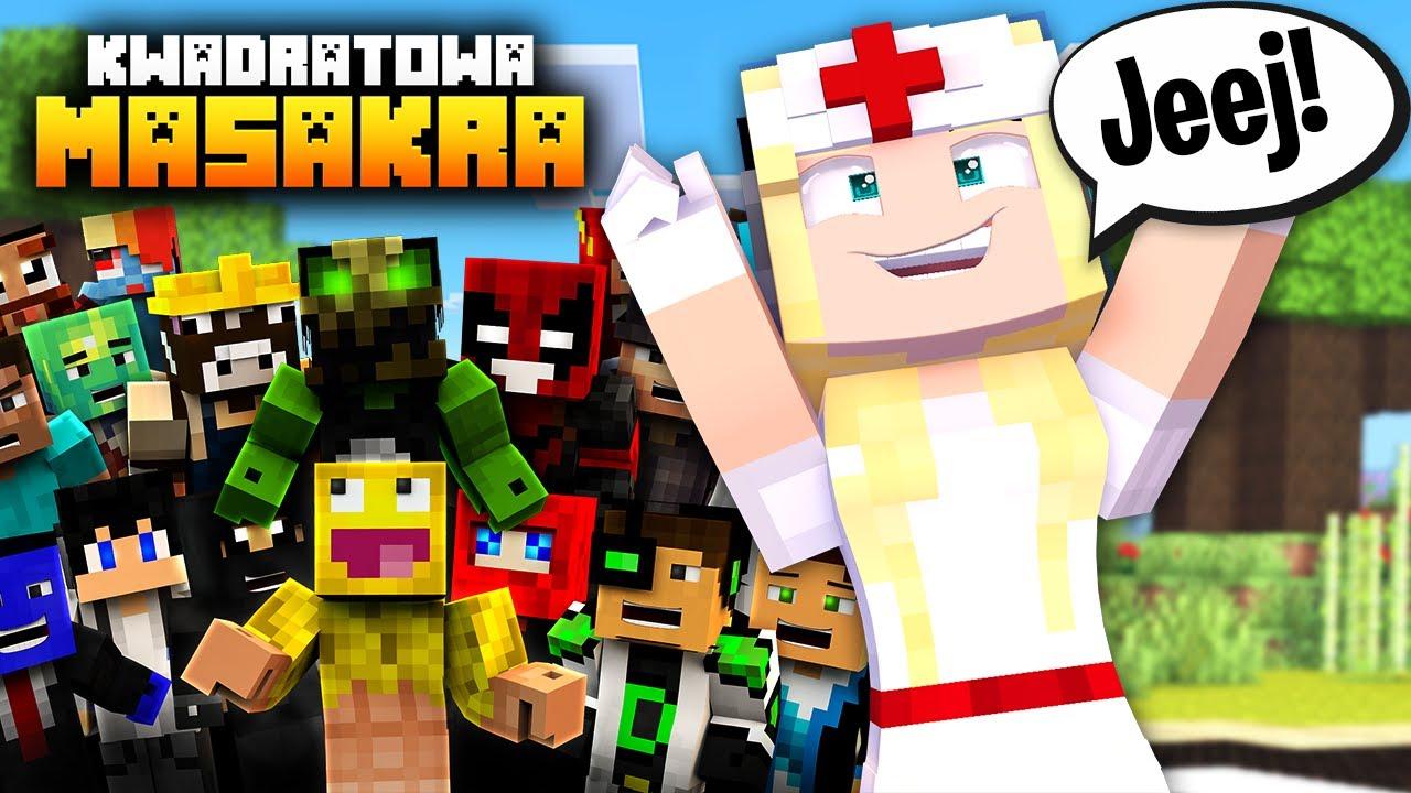 DOSTAŁAM SIĘ NA GŁÓWNĄ WYSPĘ! 😱 KWADRATOWA MASAKRA | Cedi Minecraft