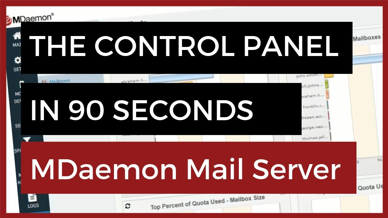 MDaemon Mail Server - Take a Look at the Control Panel