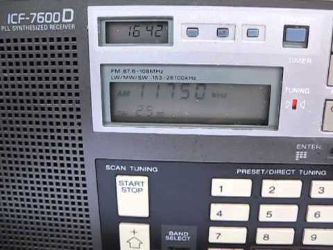 Sri Lanka Broadcasting Corporation, 11750 Khz, Trincomalee