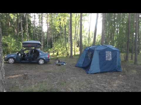 "Установка палаток ч.1 Tramp Grot и Шатер-тент ""TREK PLANET"" ""DINNER DOME"""