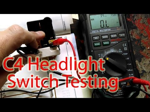 C4 1987 Corvette Headlight Switch Removal And Operation/testing