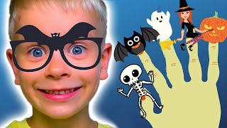 Halloween Finger Family   Halloween Song for Kids   Dima Family Show