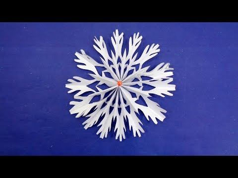 Easy DIY Christmas Decoration Ideas - How To Make 3D Paper Snowflakes