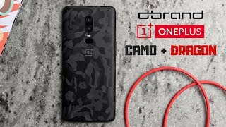OnePlus 6 dbrand Black Camo Skin Application