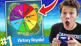 Spin the WHEEL OF WEAPONS to WIN in FORTNITE BATTLE ROYALE!
