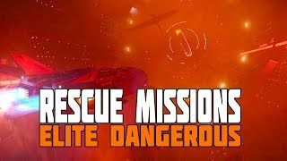 Elite Dangerous - Rescue Missions - Saving People from Wrecked Stations