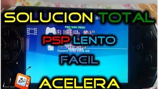 Como reparar un PSP LENTO + ACELERA los Juegos FACIL- Sin programas
