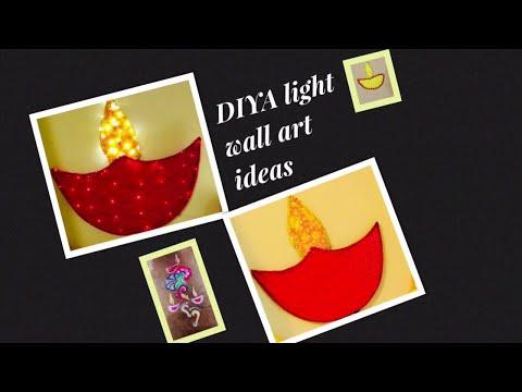 DIWALI LIGHTS DIY|| DIYA WALL HANGING IDEAS 2019