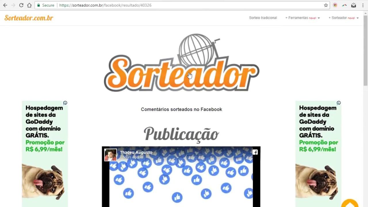 Dica 1 Sorteador Com Br Como Realizar Sorteio No Facebook Youtube
