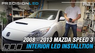 Mazda Speed 3 LED Lights Interior Install How To 2008 - 2013 2nd Gen