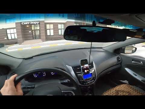 Парковка с наклоном под сорок пять градусов вид из салона машины
