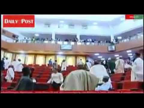 Wonders shall never end with BUHARI's GovT,As THUGS Barges into Nigeria Senate,Stole MACE Of Authori