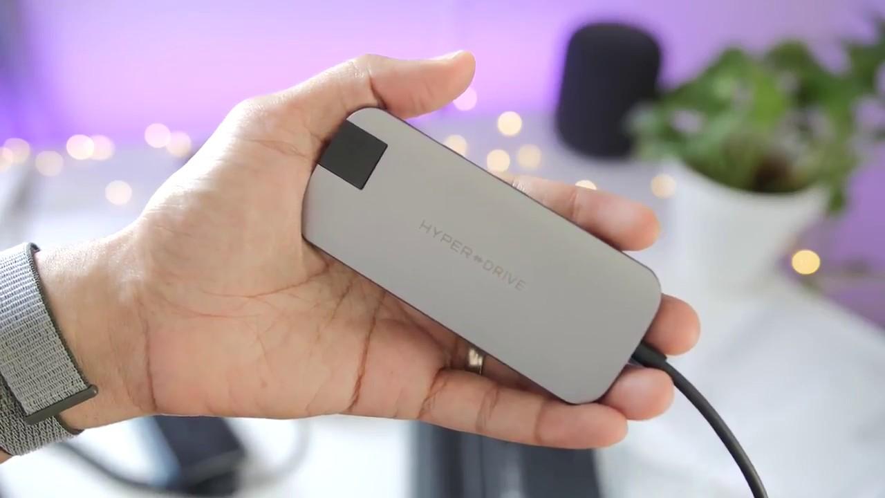 Kết quả hình ảnh cho HyperDrive SLIM 8-in-1 USB-C Hub