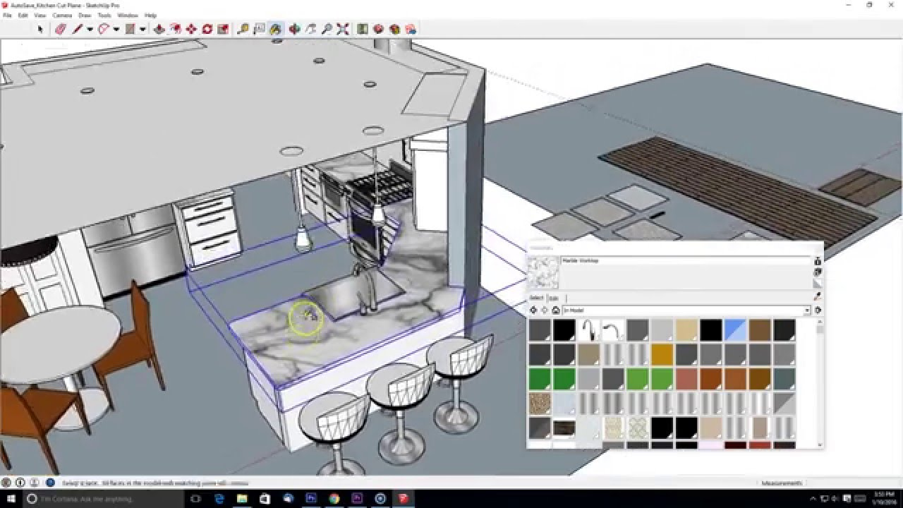 Interior design enhanced materials in sketchup youtube for Interior decoration with waste material