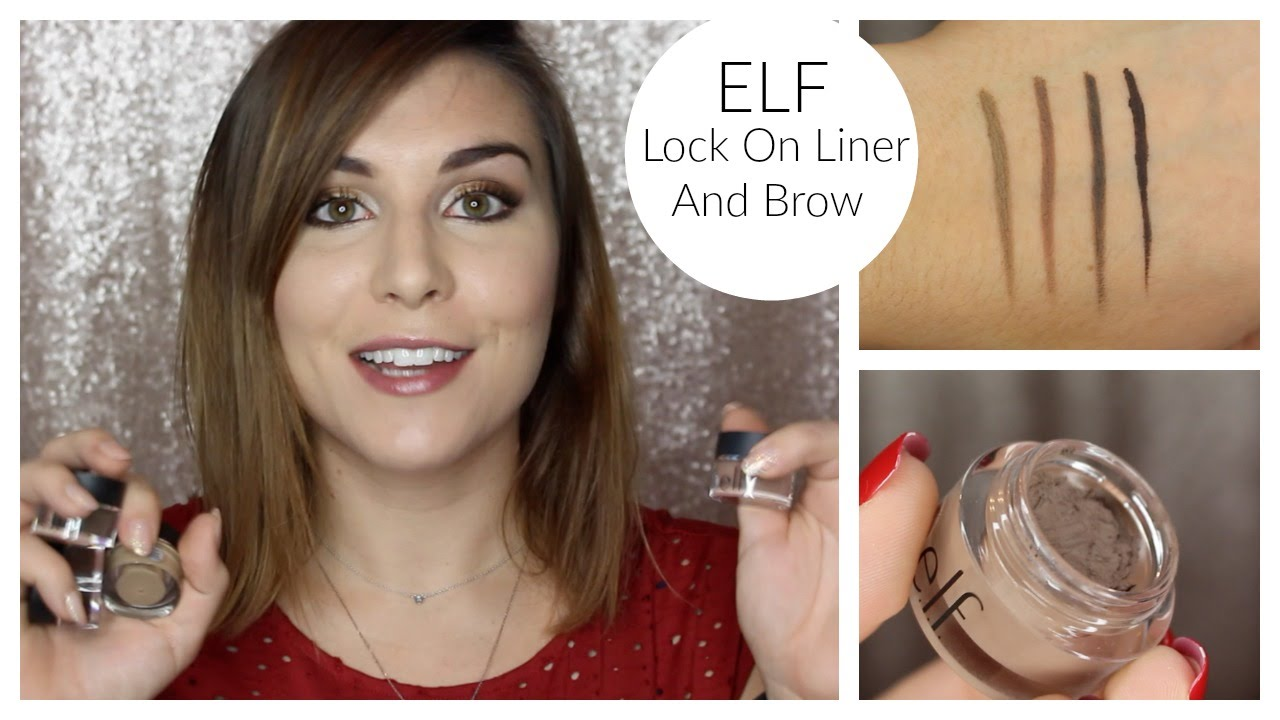Elf Lock On Liner And Brow Cream Review Bailey B Youtube