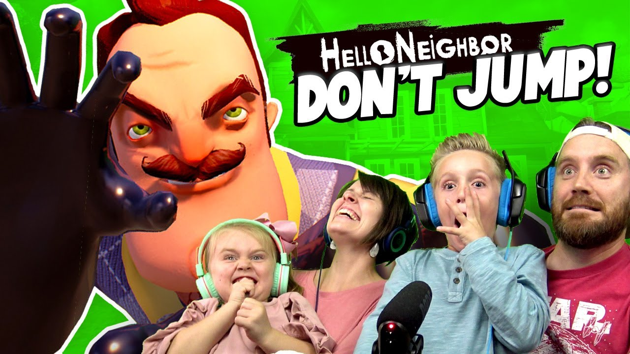 Try not to JUMP! Hello Neighbor NOOB Family Challenge | K-City GAMING
