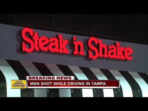Man shot while driving in Tampa