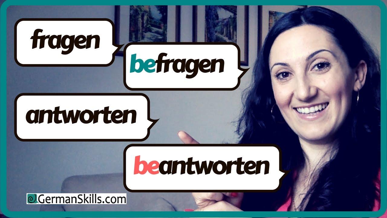 Typische Fehler | FRAGEN / BEFRAGEN - ANTWORTEN / BEANTWORTEN - Was ...