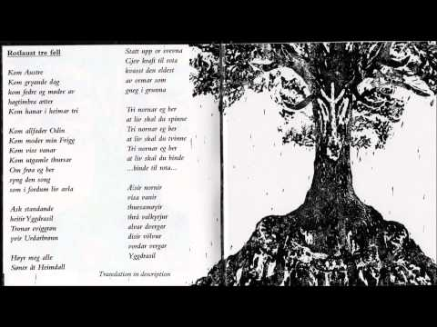 Wardruna - Rotlaust tre fell ( with lyrics and translation ) HQ