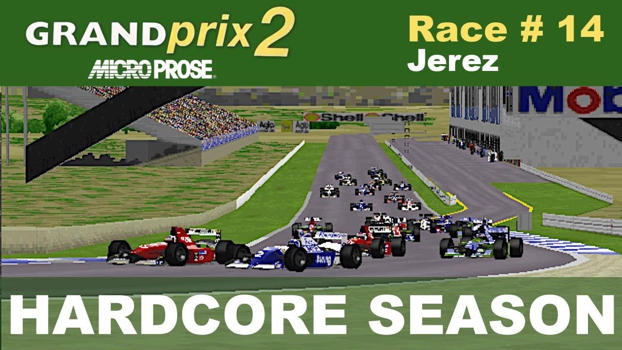 Microprose Grand Prix 2 - Race #14 -  European GP (Hardcore Season)