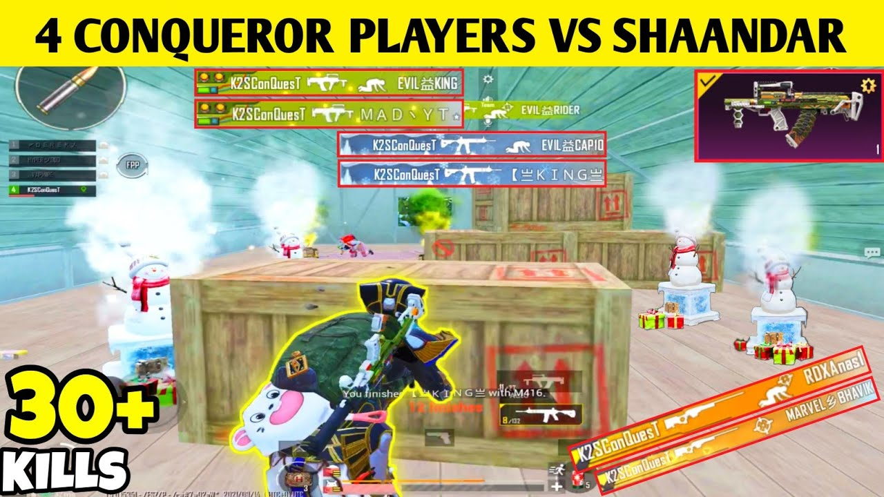 😲BEST 1V4 FIGHT AGAINST 4 CONQUEROR PLAYERS-SAMSUNG,A3,A5,A6,A7,J2,J5,J7,S5,S7,S9,A10,A20,A30,A50,A