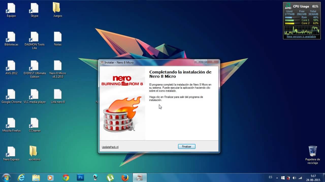 descargar nero mas serial para windows 7