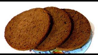 Шоколадный бисквит Как приготовить простой шоколадный бисквит