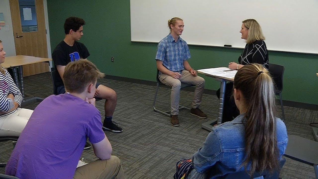 Breck Students Practice Interview Skills