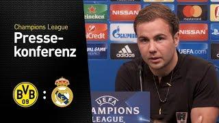 Pressekonferenz mit Mario Götze und Peter Bosz | BVB - Real Madrid
