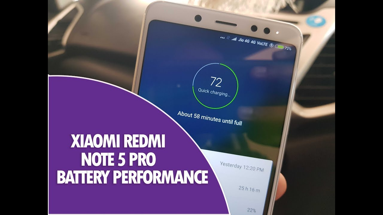 Xiaomi Redmi Note 5 Pro Charging Time Battery Performance Is