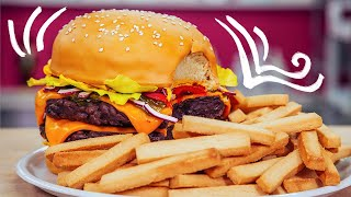 How To Make A CHEESEBURGER & FRIES out of CAKE | Yolanda Gampp | How To Cake It