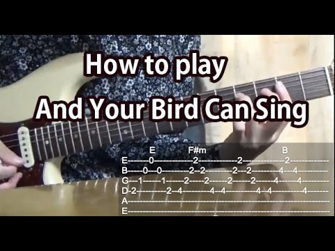 how to play and your bird can sing the beatles guitar tutorial with tabs youtube. Black Bedroom Furniture Sets. Home Design Ideas