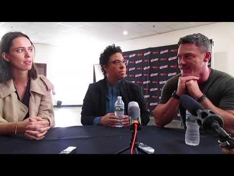 Luke Evans, Rebecca Hall, and Angela Robinson at NYCC 2017