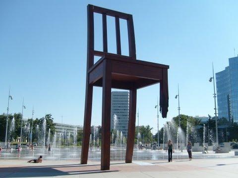 Chair Monument in Geneva, Switzerland