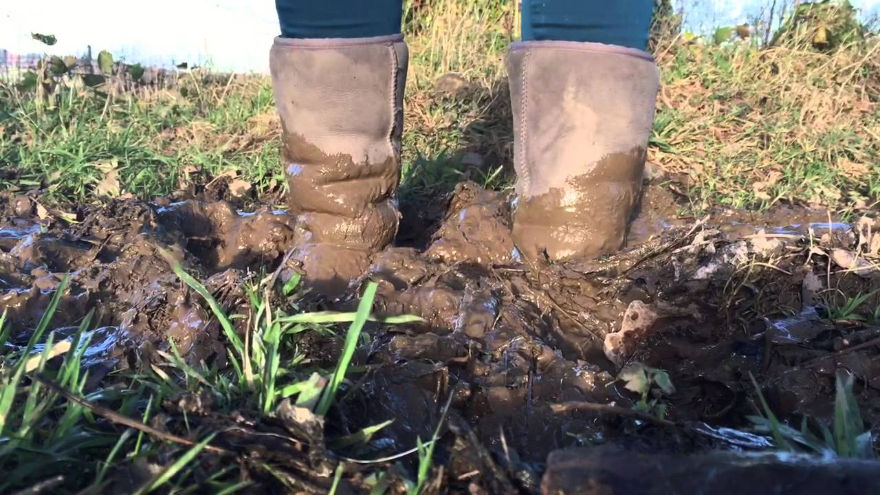 Ugg Boots Stuck In Mud Youtube