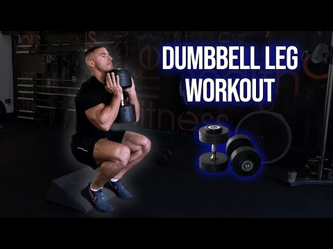 Full Leg Routine Using ONLY Dumbbells | Home Workout