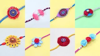 8 RAKHI MAKING IDEAS at HOME from Waste Materials
