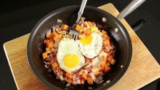 Bacon Bowl Skillet Recipe - Sweet Potato Hash