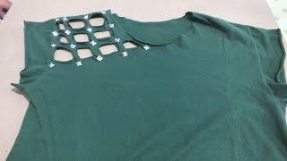 DIY: Customização de Camiseta com Spikes