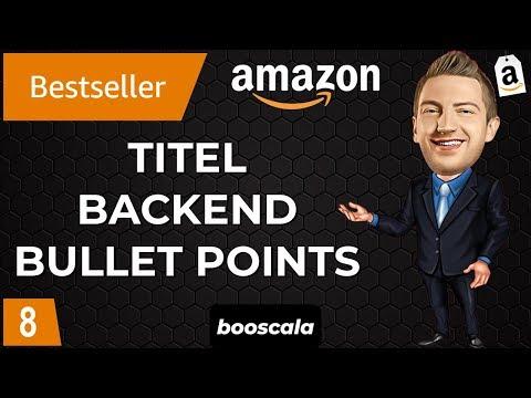 Amazon Titel Optimieren. Amazon Bullet Points Optimieren. Produktbeschreibung. Search Terms [8/13]