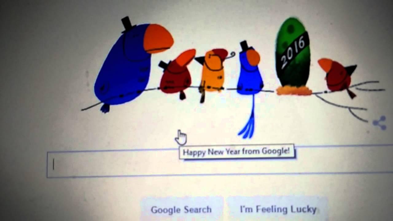 Happy New Year 2016 Google Doodle - YouTube