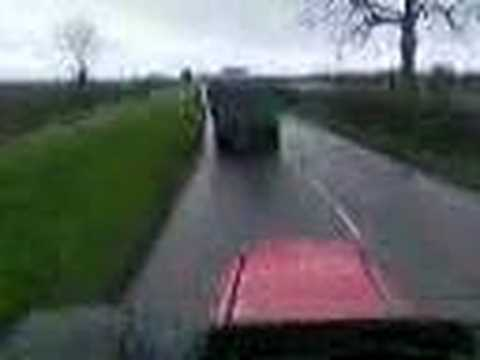 chav in tractor