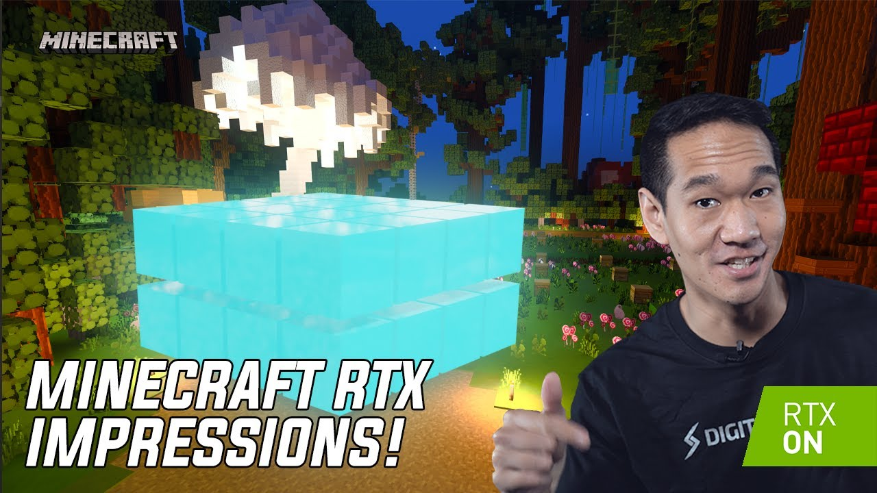 Minecraft RTX Build and Gameplay – Our First Impressions!
