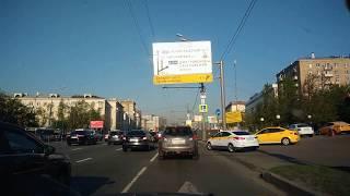 . Москва-Марьина роща-Белорусский вокзал. Поездка на автомобиле по городу